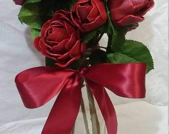 1 Dozen Paper egg carton Rose Bouquet