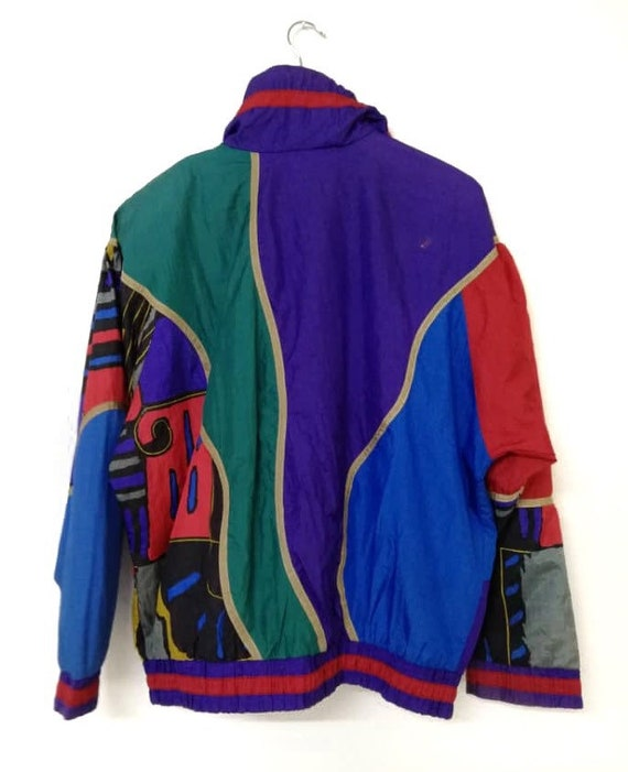 Multicolors Vintage Nylon Jacket Light 80s Twwqaz
