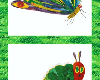 Caterpillar -> Butterfly Fabric  - Metamorphosis Very Hungry Caterpillar, Eric Carle, Andover Fabrics 5280 M - Priced by the 24-Inch panel