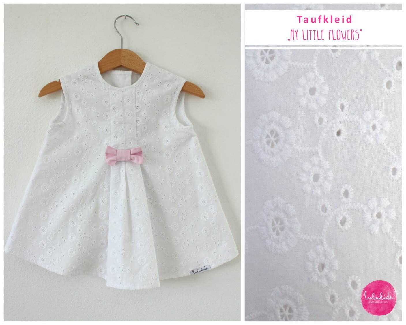 Baby Mädchen Taufkleid weißes Kleid Vintage Taufe festliches