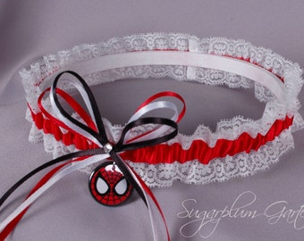 Spider-Man Lace Wedding Garter - Ready to Ship