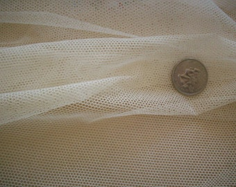 Pure Cotton Vintage Netting  white or ivory