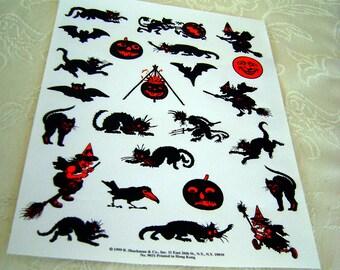 1 Large Sheet Halloween Pressure Sensitive Stickers From B. Shackman