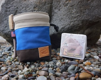 Organic Cotton Zipper Chalk Bag
