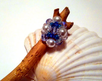 Woven Pearl ring