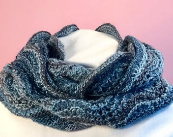 Glittery cowl, warm and a little dressy!