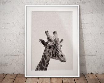 Safari Nursery, Giraffe Nursery, Nursery Wall Giraffe, Nursery Safari Decor, Kids Safari Wall Art, Kids Giraffe Art, Giraffe Print, Giraffe
