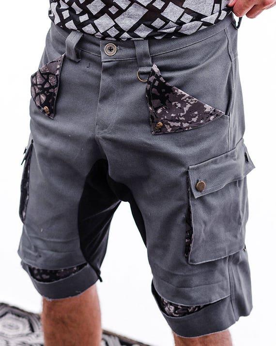 Shorts Boho Mens Casual Urban Shorts Gray Hipster Men's Shorts Men's Pants Pants Cotton Clothing Shorts Men's Men's Fashion Clothing RCxfdwq