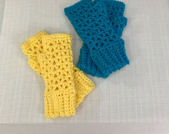 Crocheted Fingerless Gloves, Mitts, Arm Warmers, Wrist Warmers, Winter Accessories