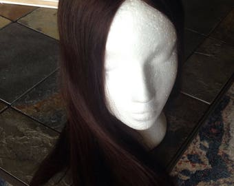Mongolian high quality hair, mono topper large coverage
