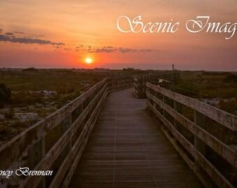 Jones Beach Boardwalk at Sunrise