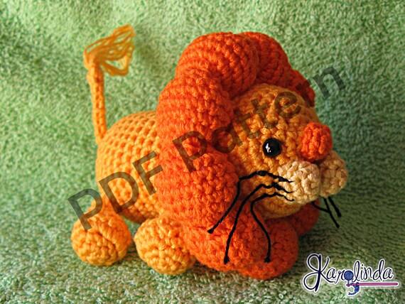 Amigurumi Leon : Amigurumi leon pdf patrón crochet