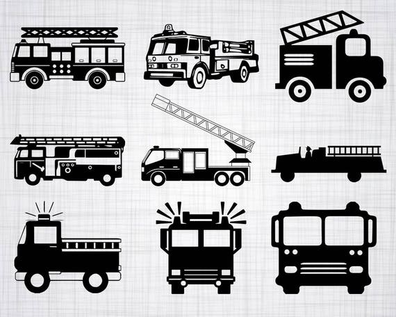 fire truck svg bundle firetruck svg firetruck clipart cut Wrapped Birthday Presents Clip Art Firefighter Fighting Fire