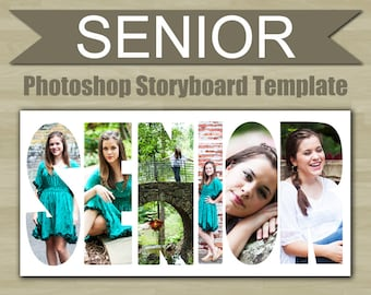 Photography Storyboard Template SENIOR Photoshop Template Word for Photographers