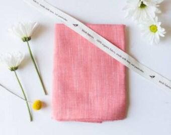 Coral Organic Yarn-Dyed Chambray, Birch Fabrics, Certified Organic Cotton
