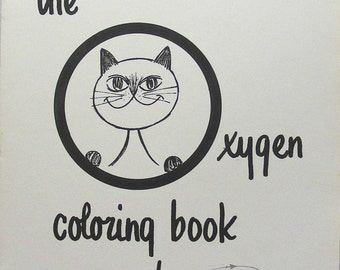 Vintage Cat Coloring Book For Adults By Sky Ox Oxygen Flying Airplanes Pilots Flight Attendants