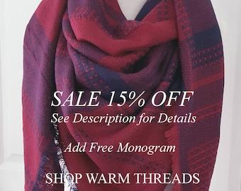 Plaid Blanket Scarf, Blanket Scarf, Tartan Plaid Scarf, Tartan Scarf, Gift For Her, Oversized Blanket Scarf, Christmas Gifts, Monogrammed