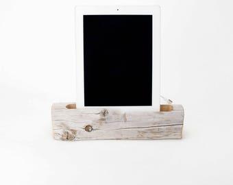 Docking Station, Driftwood iPad dock, iPad Charger, iPad Charging Station, driftwood ipad dock, wood ipad dock/ Driftwood-No.1012