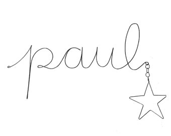 Personalized your wire name sign ( with a star)