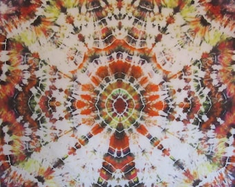 "Tie dye ""windmill"" Mandala wall hanging/tapestry"