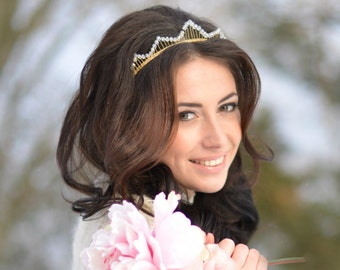 bridal crown, bridal tiara, wedding crown, wedding tiara,Bridal HeadBand, Bridal Halo, Bridal Hair Vine,Diadem,Bridal Hairpiece