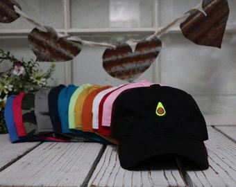 AVOCADO Dad Hat | Avocado Tree | Aguacate | Alligator-Pear | Genus Persea | Persea Americana | Lauraceae | Pear-shaped | Dad Caps