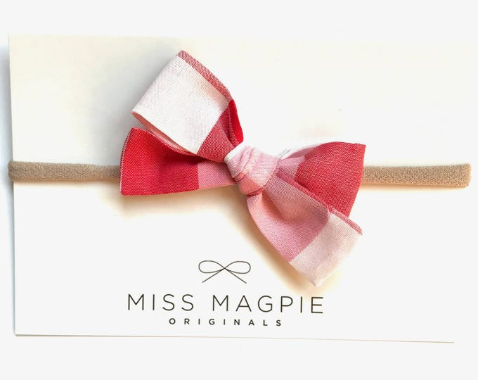 Sloane bow || Gingham