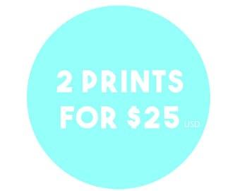 Any 2 8x10 Prints from Jaimie Art Co. - Bulk Art Prints, Bulk Art Set, Assorted Art, Art in Bulk, Art Print Set, Mix and Match, Wall Art Set