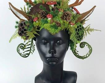 Antler Headdress Headpiece