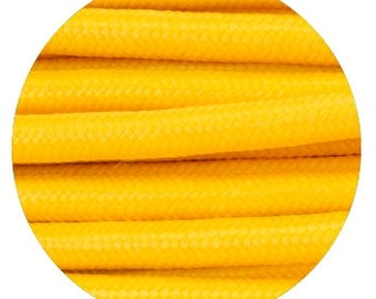 Fabric Textile cable wire for Lighting Round 2x0.75 in yellow EGST