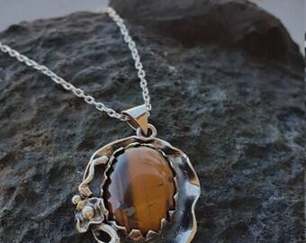 Tiger Eye Necklace Handmade & Silver