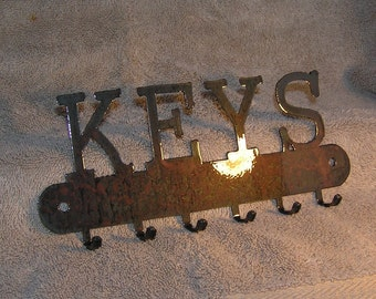 Keys-Metal Wall Art/Key Holder-Suitable for Indoors or Outdoors