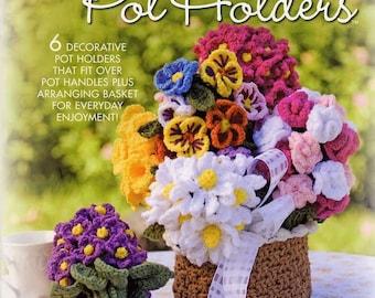 Crochet Flower Pattern in English - Crochet Flower Bouquet Crochet Pattern, Leaves Crochet Pattern, Ebook /Pattern /Instant Download