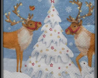 reindeer and white napkin