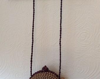 Amazing cute straw turtle shaped bag
