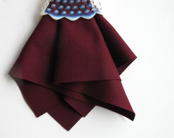 Merlot Wool Felt, 100% Merino Wool, Choose Size, Large Felt Sheet, Wool Felt Square, Burgundy, Deep Red, Marsala, Sewing Supply, DIY Craft