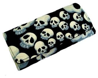 BLACK FRIDAY Sale Wallet  Skulls  Infinity Exterior woman wallet cotton Fabric, new