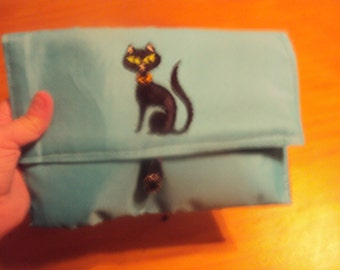 098 Turquoise Clutch Purse/Bible Carrier