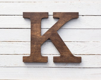 Wooden letters - wall letters - wood letters - alphabet letters - rustic home decor - kids room decor - letters - letter decor - wall decor