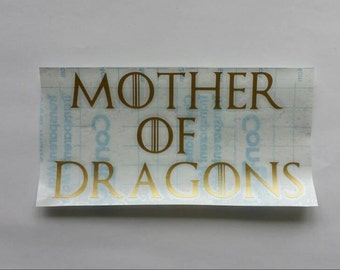 Mother Of Dragons Decal, Game Of Thrones Car Decal, Mother of Dragons Car Decal, Game of Thrones Decal, Game of Thrones Gift, Targaryen