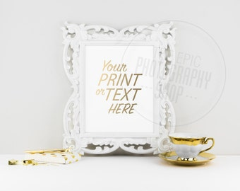 Print Background / Blank Frame / Styled Stock Photography / Product Photography / Staged Photography / Product Background / Gold / OR005