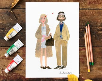 The Royal Tenenbaums A4 and A3 Poster Print