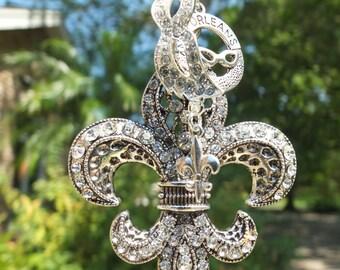 NOLA DREAMS Tree Jewelry Christmas Ornament Fleur de Lis New Orleans