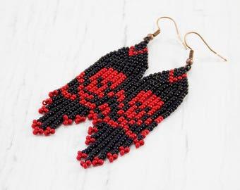 horror earrings skull jewelry goth earrings Halloween jewelry skull earrings pirate jewelry skeleton earrings witch jewelry Gothic earrings