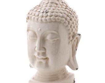 Weathered- Worn- Buddha Bust