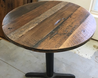 Round Dining Table Top,reclaimed Wood Variety, 30 Inch Round ,Add Your Base Images