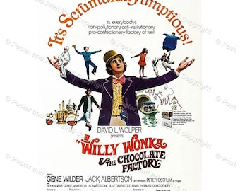 Willy Wonka & the Chocolate Factory Movie film Wall Art print poster  Paramount, 1971 Gene Wilder ref235