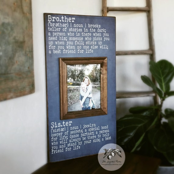 Brother and Sister Frame Brother and Sister Wall Art Sibling