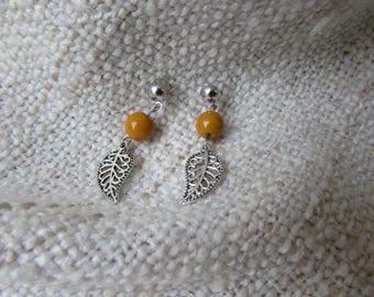 Leaf earrings / pendulum