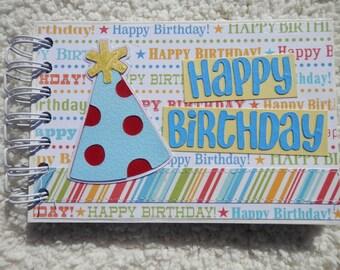 4x6 Birthday Mini Scrapbook Photo Album
